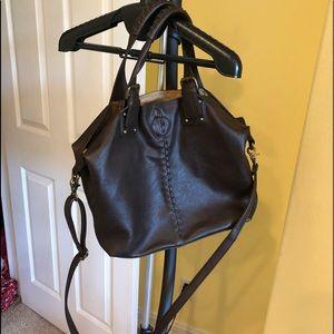 Carlos Large Tote/Satchel Brown Handbag New